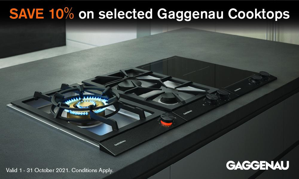 SAVE 10% on selected Gaggenau Cooktops